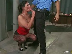 Phoenix Marie gives it to lucky officer in hd Porn