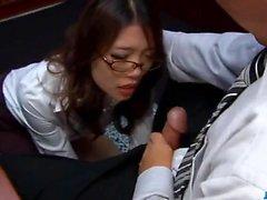 Perfekt Sex Geschichte zusammen Asiatisch Sekretärin Ibuki