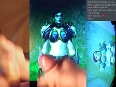 Cum hyllning till Azaer (Human, World of Warcraft)