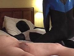 Spandex spanking and sucking - Scene 04
