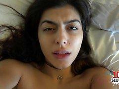 Hot girlfriend pov blowjob with creampie