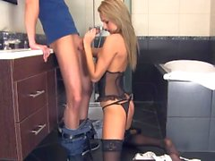 Sex with petite maid