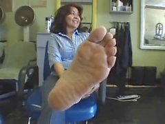 Wrinkled mature soles