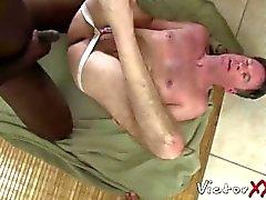 Dameon Sadi Füllung Rick Jagger Arsch mit seinem großen schwarzen Schwanz