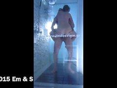 Spencer fucks Emma in a Lindos Hotel shower