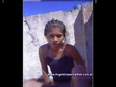 Putita y Cumbiera Argenta se Pajea en la Terraza [21 a