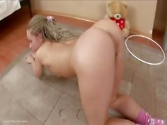 Mariana italian getting crazy with dildo
