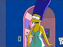 Simpsons Cartoon Sex : Homer jävla Marge