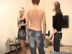 Pretty Russian Chicks In A Threesome