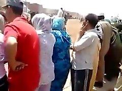 Crazy guy touching dick on the muslim women