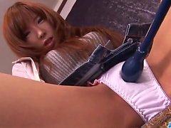 Amazing masturbation show along hot Serina Hayakawa