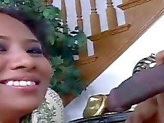 Ebony man bangs white gal