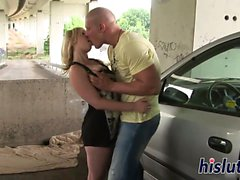 Saucy blonde gets her tight snatch drilled