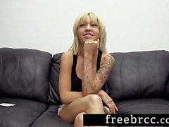 Skinny Blonde's Anal Audition
