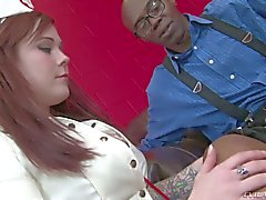 Nurse Misti Dawn sucks Big black Dick