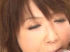 Japanese threesome along cock sucking Miriya Hazuki