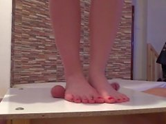 Bafe Feet Cock and balls trampling massage