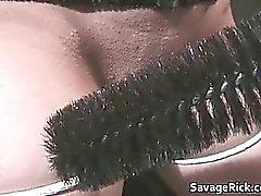 Puta sucia de Talia se hace atar esclavos