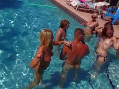 Pool party with young chicks Nadia Cox and Mimi Rayne