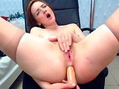Sexy hairy pussy creamy masturbation anal flexing