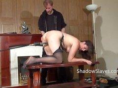 Amateur slave Jannas kinky fetish and bizarre machine fucking and pussy