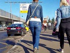 russian blonde ass on the street