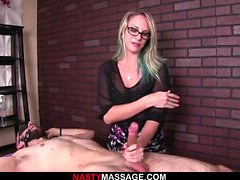Cock slapping hard handjob by NastyMassage