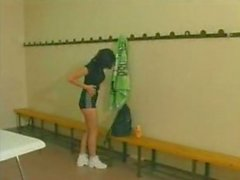 French mature gangbanged in the gym club