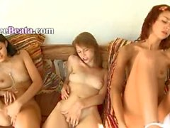 Three russian girls masturbating