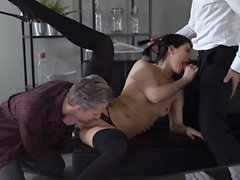 Glamkore Lady Dee gets a double cumshot facial