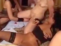 Lesbians From Europe In A Foursome
