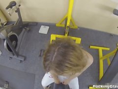Fucking Glasses - Fucking practice in a gym