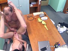 Sexy patient drained doctors dick in a fake hospital