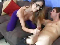 Three Hotties Jerk Guys Off On Their Yoga Pants HARDCORE CUMSHOT HANDJOB