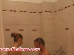 Tittyfuck and bathroom action by real czech couple