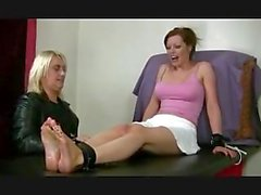 Holly, toe tied & tickled!