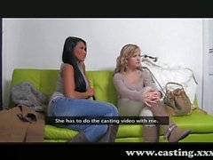 Two girls at once make him squirt far