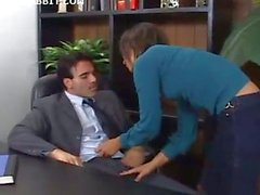 Horny Secretary Ass Fucks The Boss