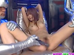 Vibrator insertion in Japanese girl Tsubomi