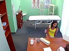 Medical voyeur fun with a sexy eurobabe
