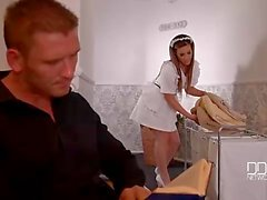 DDF Network - Horny maid and wife drain a Husbands balls to Empty