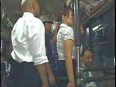 Gang Bang de en el autobús