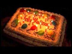 Amarrado e Sploshed para seu aniversário