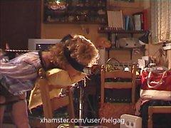 Bound MILF sucking and drinking cum - by Helga