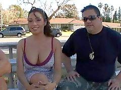 Frun fucked framför mannen