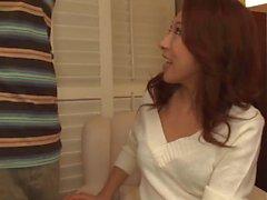 Cópias de POV de sucção de galo premium com Kanako Tsuchiyo