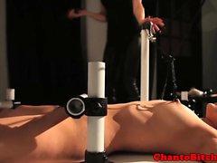 Petite bdsm bondage sub gets flogged