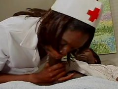 Nurse Visits Patient Wearing Crotchless Panties