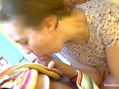 Daughter and stepdad fuck, taboo hot sex in nursery room