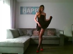 Veronika Zemanova in stockings solo